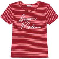 Blusa Listrada Endless Feminina - Feminino-Vermelho
