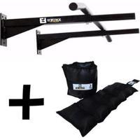 Kit 2 - Barra Mista + Caneleira 3Kg Enforce Fitness - Unissex