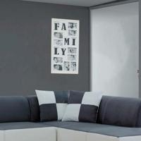 Painel Bee Collection Words Family 10 Fotos 10X15Cm Branco Kapos