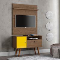 Rack Com Painel Para Tv De 32 Polegadas Yan Demolição E Amarelo