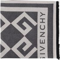Givenchy Echarpe Com Logo - Cinza
