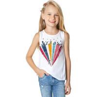 Blusa Branca Estampa Awesome Menina Malwee Kids