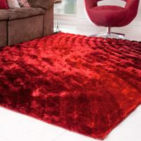 Tapete Silk Shaggy 3D Bordô Degradê 2,00M X 2,50M