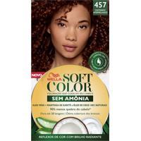 Tintura Soft Color Sem Amônia Castanho Avermelhado 457 Kit