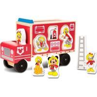 Caminhão De Bombeiros De Madeira Com Figuras - Disney - Mickey Mouse - Melissa And Doug
