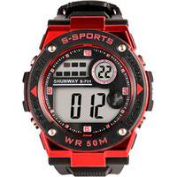Relógio Digital Running Alarme Cronômetro Display Com Luz Noturna