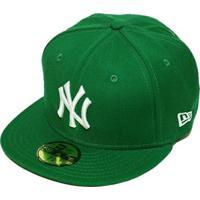 49d9dd24af ... Boné New Era Aba Reta Fechado Mlb Ny Yankees Basic - Unissex-Verde