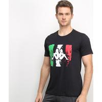 Camiseta Kappa Italian Masculina - Masculino-Preto