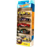 Pack Com 5 Carrinhos Hot Wheels Hw Car Meet - Mattel