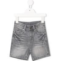 Stella Mccartney Kids Short Jeans Com Efeito Desbotado - Cinza