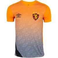 Camisa De Treino Do Sport Recife 2020 Umbro - Masculina - Laranja/Preto