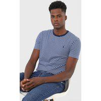 Camiseta Polo Ralph Lauren Listrada Azul-Marinho/Azul