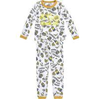 Pijama Minionsâ®- Branco & Amarelo- Primeiros Passos