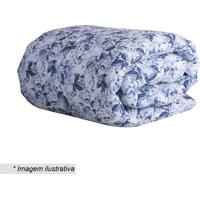 Edredom Taormina Dupla Face King Size- Azul & Brancasultan