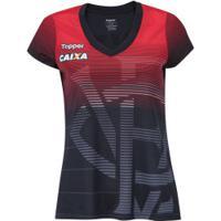 Camisa Do Vitória Aquecimento 2018 Topper - Feminina - Preto/Vermelho