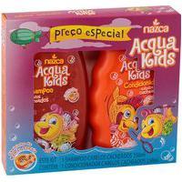 Shampoo + Condicionador Acqua Kids Cacheados Cabelos Macios Hidratados Perfumados 250Ml