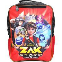 Mochila Escolar Infantil Xeryus Zak Storm Adventures - Masculino-Preto+Vermelho