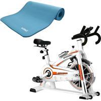 Bike Spinning Oneal Tp1100 Semi Profissional Colchonete Eva Azul Yoga Pilates Liveup