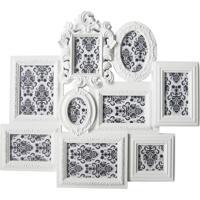 Porta Retrato Barroque Multiple Frame 67X58Cm Branco