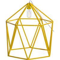 Luminaria Pendente Cenic Estrutura Quadrada De Ferro Cor Amarela 0,50 Cm (Alt) - 54073 - Sun House