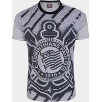 Camiseta Corinthians Shadow Masculina - Masculino-Chumbo