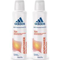 Kit 2 Desodorantes Adidas Adipower Aerossol Feminino 150Ml - Feminino-Incolor