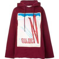 Golden Goose Blusa De Moletom Oversized 'Furka' - Vermelho