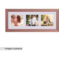Painel Multifotos Insta- Bronze & Branco- 15X38X1,5Ckapos