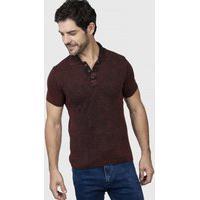 Camiseta Polo Básica - Le Tisserand - Vermelho Queimado