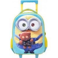 Mochila Infantil Com Rodas Xeryus 14 Minion Bob - Unissex-Azul