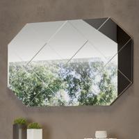 Espelho 127,5 Cm 100% Mdf Tb207 Off White - Dalla Costa