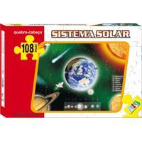 Quebra Cabeça Nig Brinquedos Sistema Solar 108 Peças Multicolorido