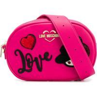 Love Moschino Pochete Com Patch De Logo - Rosa