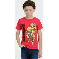 Camiseta Infantil Bumblebee Transformers Manga Curta Hasbro