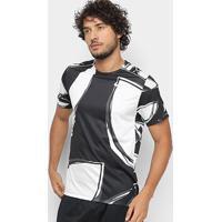 Camiseta Nike Miler Ss Fiesta Masculina - Masculino-Preto+Prata