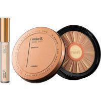 Combo Make B.: Gloss Lip Oil Sun Hit + Pó Facial Bronzer