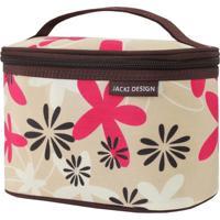 Necessaire Frasqueira Estampada Tam. P Jacki Design Miss Douce Marrom Floral