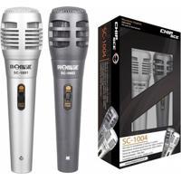 Kit Com 2 Microfones Unidirecionais Com Fio - Promusic Chip Sce Sc-1004 - Unissex