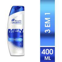 Shampoo Head & Shoulders Men Anticaspa 3 Em 1 400Ml