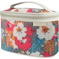 Necessaire Frasqueira Estampada Tam. P Jacki Design Miss Douce Bege Floral