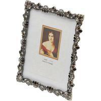 Porta-Retrato Aline- Prateado & Marrom- 15X10Cm-Rojemac