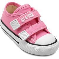 Tênis Infantil Converse All Star Ct Border 2 Velcros Baby - Unissex-Rosa