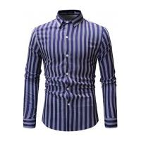 Camisa Social Ml15 Slim Fit - Azul E Branca