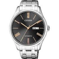 Relógio Citizen Automático Masculino - Masculino-Prata