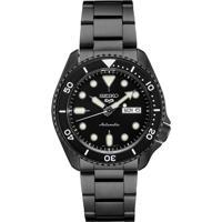 Relógio Seiko Masculino Srpd65B1 P1Px Automático Pulseira E Caixa Aço Bronze Mostrador Preto