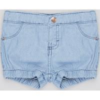 Short Jeans Infantil Balonê Azul Claro