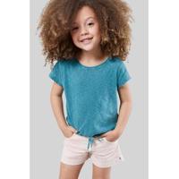 Blusa Infantil Flame Com Cadarco Reserva Mini Feminina - Feminino-Verde