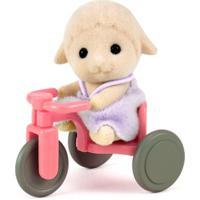 Sylvanian Families - Bebê Ovelha Com Triciclo - Epoch - Feminino-Incolor