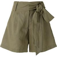Isolda Short Cintura Alta Com Amarração - Verde