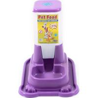 Comedouro De Plástico Para Cães Pet Food Comedouro Automático Para Cães Pet Food Anti-Formigas Plástico Capacidade Para Ração 2,5Kg